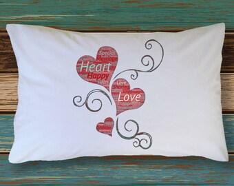 Pillowcase ENGAGED  MARRIED ANNIVERSARY Adorable Honeymoon Wedding Bedding Bridal Shower Wedding Present Bachelorette Party Gift