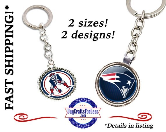 NEW ENGLaND KEY RiNG- 2 sizes, 2 Designs +FREE SHiPPiNG & Discounts*