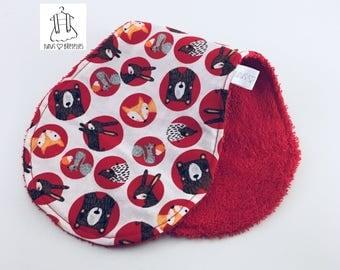 Shoulder towel - red foxes