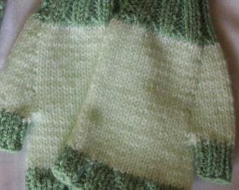 Gloves Fingerless Hand Knitted