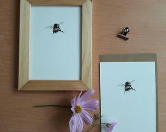 Greeting card/mini print - bumblebee