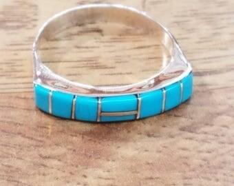 Zuni handmade Sleeping Beauty Turquoise Ring