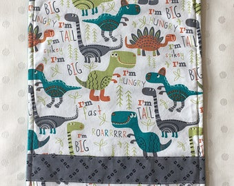 Dinosaur burp cloth
