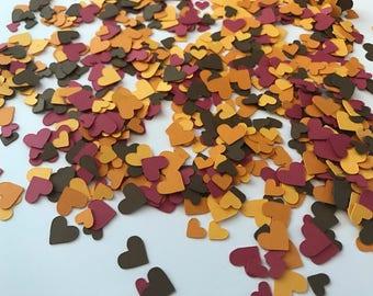 Mini Heart Fall Confetti - Fall in Love Confetti - Mini Heart Confetti - Fall Wedding Decor - Fall Wedding Shower Decor - Fall Decorations