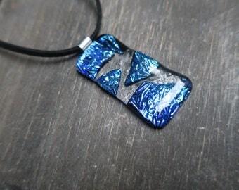 Statement Mermaid Dichroic Glass Necklace