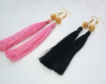 Jewellery, Earrings, Drop Earrings, Thread Earrings, Tassel Earrings, Dangle Earrings, Handmade Earrings, Long Tassel Earrings, Earring