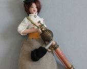 Steampunk Dollshouse Miniature Figure: Gertrude Jekyllton-Smythe