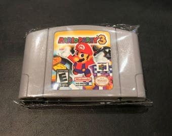 Mario Party 3 Nintendo N64 Cartridge *Fast/Free Shipping Tested and Working* USA SELLER