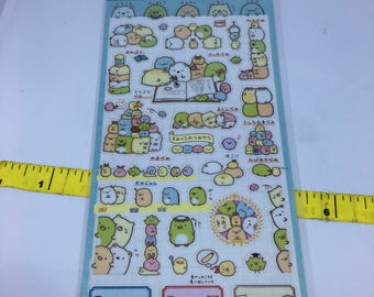 One sheet of Sumikkogurashi sticker sheets for scrapbooks, planners or journals Kawaii Japan San-X