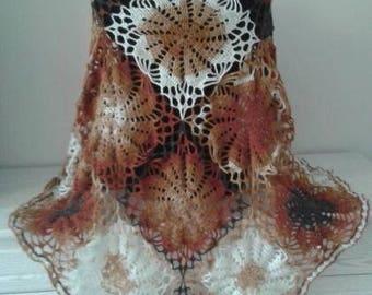 Knitted shawl, Shawl warm, handmade, gift, for women, exclusive, shawl, delicate, Ukrainian, original, Christmas, mohair wool acrylic, SALE
