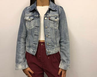 Vintage Levi's Trucker jacket denim -free shipping