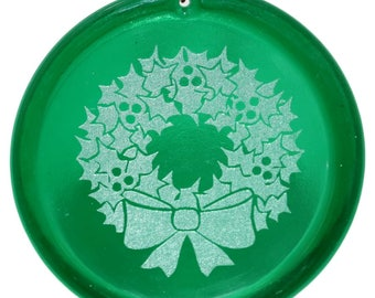 Etched Holiday Suncatcher - Draft
