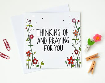 Thinking Of And Praying For You Card - Christian Gifts