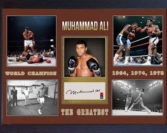Muhammad Ali signed autograph The Greatest Boxing Memorabilia Framed