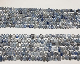Blue Kyanite Side Drilled Nuggets 15.5""