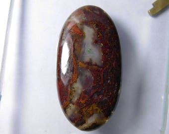 Natural Hungarian Agate cabochon gemstone, Red Moss Agate loose gemstone, Red moss agate gemstone Hungarian Agate loose stone 58 Cts. R-2418