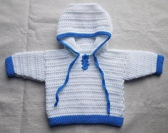 READY TO SEND 3-6 month baby boys hoody jacket cardigan