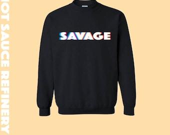 Retro Savage Crewneck Sweater