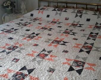 Queen size Ohio Star quilt