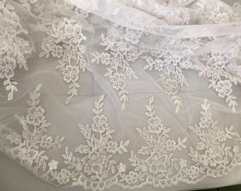 Laces for 130 width slightly off white wedding dress