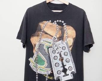 Vintage 1990's Hip Hop Money Bling Hand Shirt | SIZE LARGE