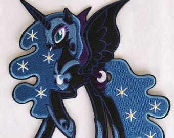 Nightmare moon inspired iron on patch, My little pony iron on inspired patch, big pony patch