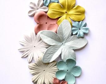 leather flowers set