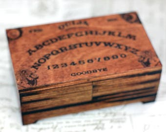 Ouija board trinket box, jewelry box, goth, tarot card box, personalised box, spiritualism, ouija box, keepsake box, occult