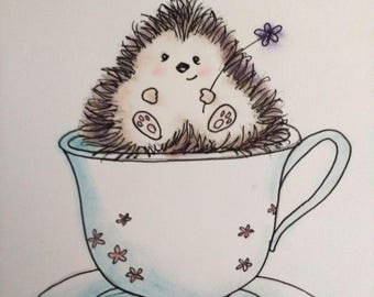 Cute Hedgehog card