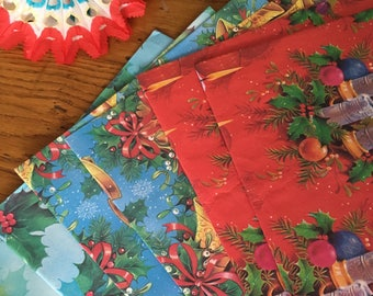 Vintage wrapping. Christmas wrapping. Vintage paper. Wrapping paper. Vintage Christmas wrapping paper