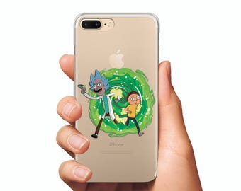 Riki and Morty case clear iPhone 6 case iPhone 7 case Riki and Morty phone case Samsung S7 case iPhone 6 Plus Riki and Morty cover iPhone