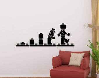 Lego Wall Decal Etsy - Cool wall stickers to complete kids room decor