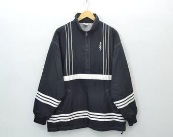 ADIDAS Sweater Vintage 90's Adidas Half Zipper Pullover Jacket Made in Japan Size JASPO O