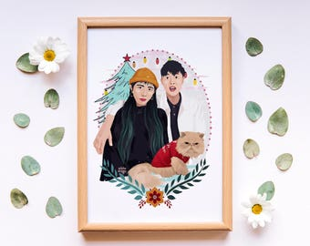 Custom Illustration, Custom Couple Art, Portrait Illustration, Custom Portrait,
