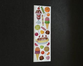 Sandylion rare paper ice cream and lollipop stickers