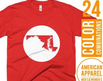 Maryland Shirt Maryland Mens Shirt Maryland Womens Shirt Maryland Top Maryland Short Sleeve Shirt Maryland Gift