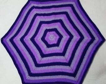 Crochet Hexagon Baby Blanket