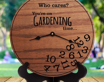 Funny Gardening Gifts - Gifts for People Who Love to Garden - Gifts for Gardener - Green Thumb - Garden Decor - Gardening Time
