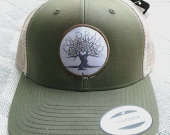 Colorado Love Tree Art hat