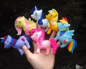 My little pony finger puppets