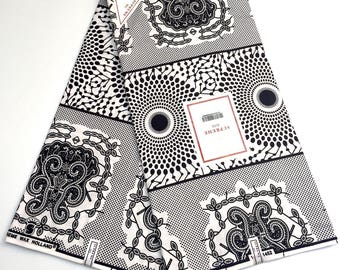 SUPREME WAX HOLLAND Original 6 Yards 100% cotton made in Holland print African fabric