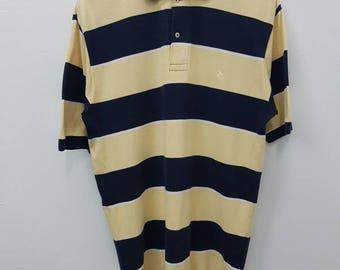 Vintage Polo By Ralph Lauren Polo Shirt Button Down Big Stripe Nice Design Medium Size
