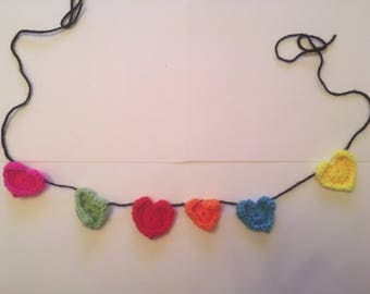 Crochet Heart Garland.