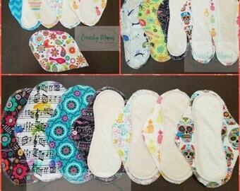 "Cloth pads 6"", 7"", 8"", 9"", 10"", 11"", 12"", 13"", 14"""