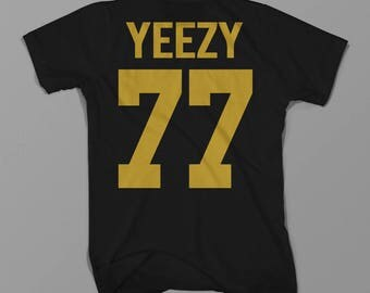 Yeezy 77, Kanye West, Shirt Hiphop Rapper Tumblr Hipster Best Gift 100% Cotton, Unisex