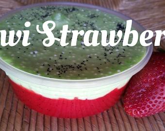 Kiwi Strawberry slime/floam~8oz