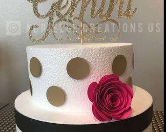 Custom Cake Topper Graduation, Birthday, Wedding, Bachelorette, Anniversary