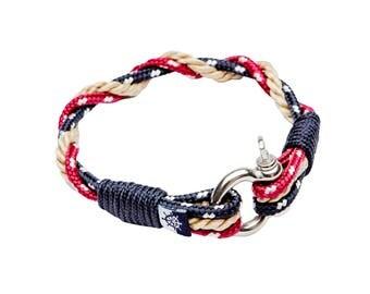 Ancre de bateau manille corde marine bracelet nautique xena - Bracelet couple ancre ...