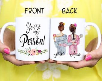 Best friend BFF Gift - You're my Person - Bestie Best Friend Christmas Mug - Christmas Gift - Birthday Mug Gift - Valentine's Day Mug Gift