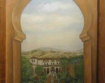 Painting by Roberta Gordon-Smith, Alhambra view